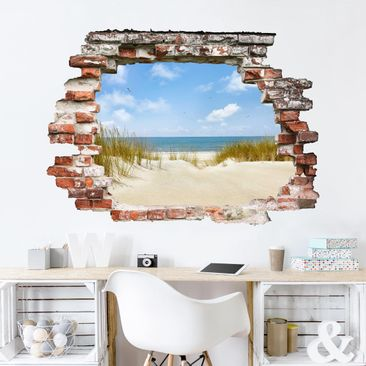 Product picture 3D Wall Sticker - Beach On The North Sea...