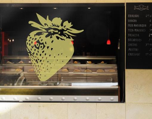 Produktfoto Fensterfolie - Fenstertattoo No.EG26 Erdbeere - Milchglasfolie