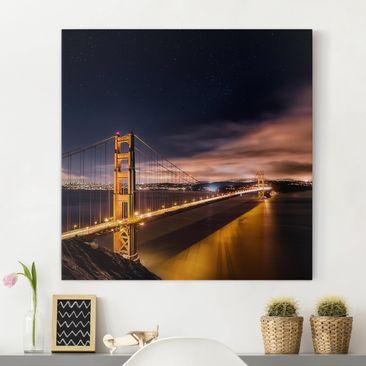 Produktfoto Leinwandbild - Golden Gate to Stars -...