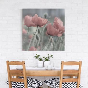 Product picture Canvas Art - Painterly Poppies - Square...