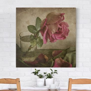 Produktfoto Leinwandbild - Tear of a Rose - Quadrat...