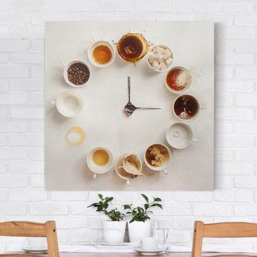 Produktfoto Leinwandbild - Coffee Time - Quadrat 1:1