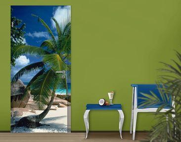 Produktfoto Türtapete Karibik - Traumstrand - selbstklebend