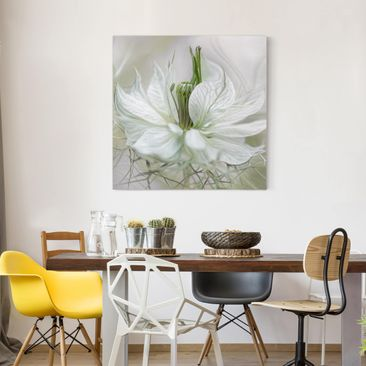 Product picture Canvas Art - White Nigella - Square...