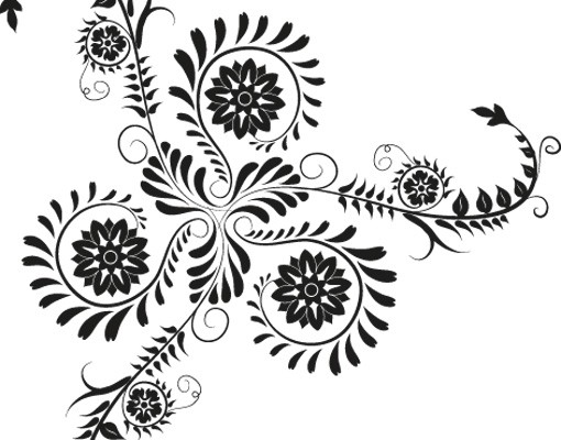 Produktfoto Fensterfolie - Fenstertattoo No.790 Florales Ornament - Milchglasfolie
