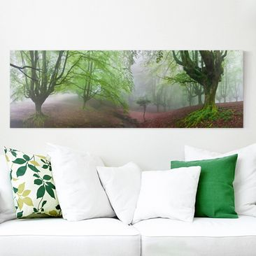 Produktfoto Leinwandbild - Der Wald Marvillador - Panorama Quer, vergrößerte Ansicht in Wohnambiente, Artikelnummer 212430-XWA