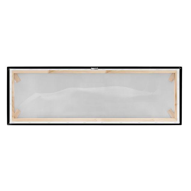 Produktfoto Leinwandbild - Frauenakt im Dunkeln - Panorama Quer, Keilrahmen Rückseite, Artikelnummer 212438-FB