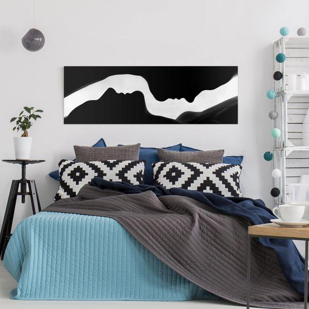 Produktfoto Leinwandbild - Silhouetten - Panorama Quer, in Wohnambiente, Artikelnummer 212467-WA