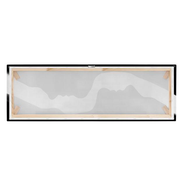 Produktfoto Leinwandbild - Silhouetten - Panorama Quer, Keilrahmen Rückseite, Artikelnummer 212467-FB
