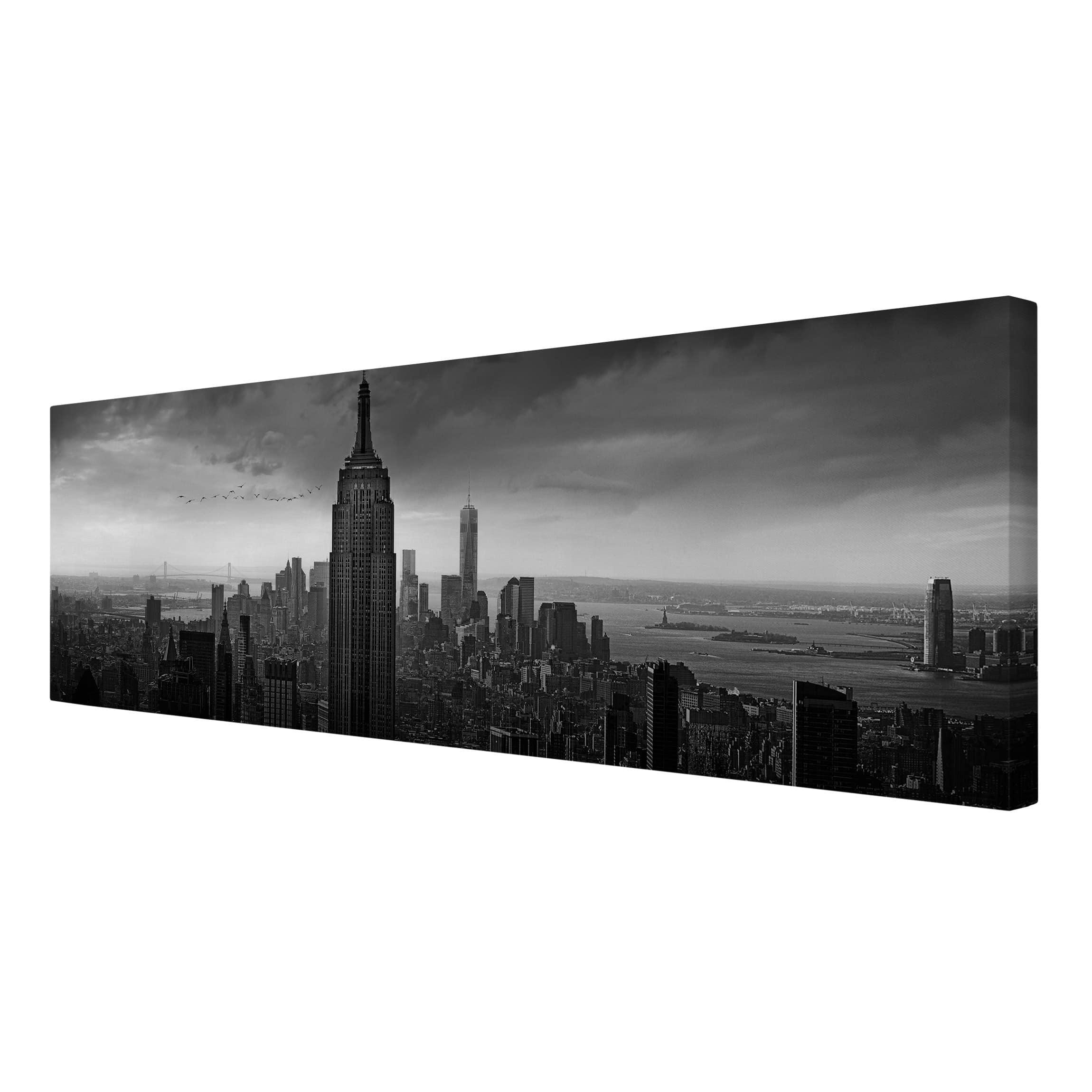 leinwandbild new york rockefeller view panorama quer. Black Bedroom Furniture Sets. Home Design Ideas