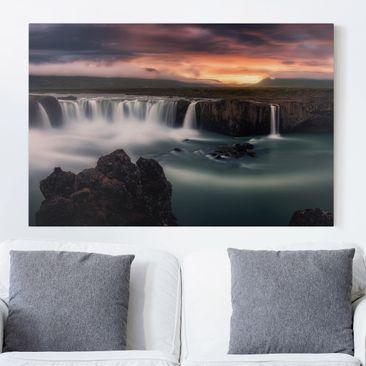Produktfoto Leinwandbild - Goðafoss Wasserfall in...