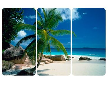 Product picture Wall Mural Dreamy Beach Triptychon I