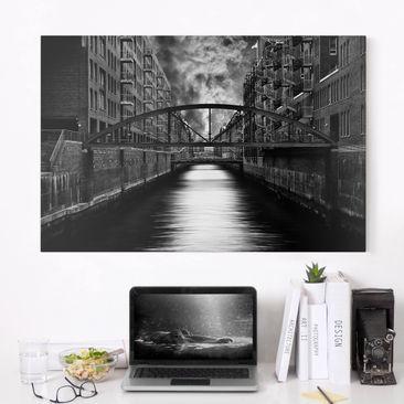 Produktfoto Leinwandbild - Hamburgs andere Seite - Quer 2:3, vergrößerte Ansicht in Wohnambiente, Artikelnummer 212652-XWA