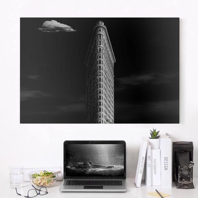 Produktfoto Leinwandbild - Flatiron Building - Quer 2:3, in Wohnambiente, Artikelnummer 212669-WA