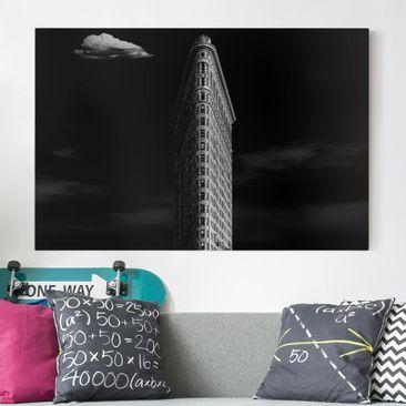 Produktfoto Leinwandbild - Flatiron Building - Quer 2:3, vergrößerte Ansicht in Wohnambiente, Artikelnummer 212669-XWA