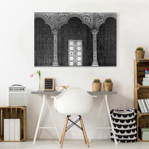 Produktfoto Leinwandbild - White Door - Quer 2:3, in Wohnambiente, Artikelnummer 212737-WA