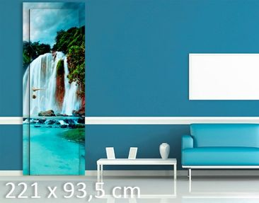 Product picture Door Wall Mural Waterfalls Panorama