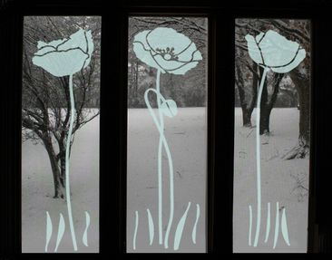 Product picture Window Sticker no.UL82 Three Poppies
