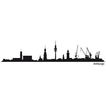 Immagine del prodotto Adesivo murale Skyline Amburgo