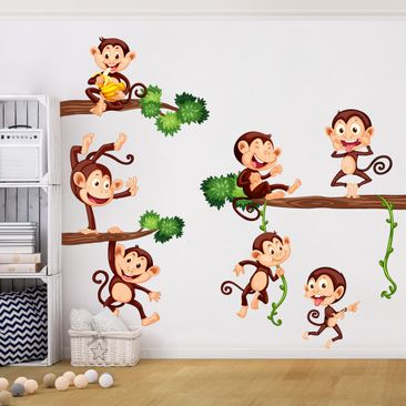 Product picture Wall Decal Monkey Family