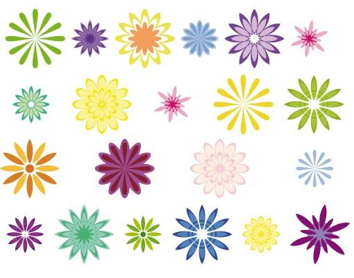 Produktfoto Fensterfolie - Fenstersticker - No.FB19 Dekorative Blümchen - Fensterbilder Frühling