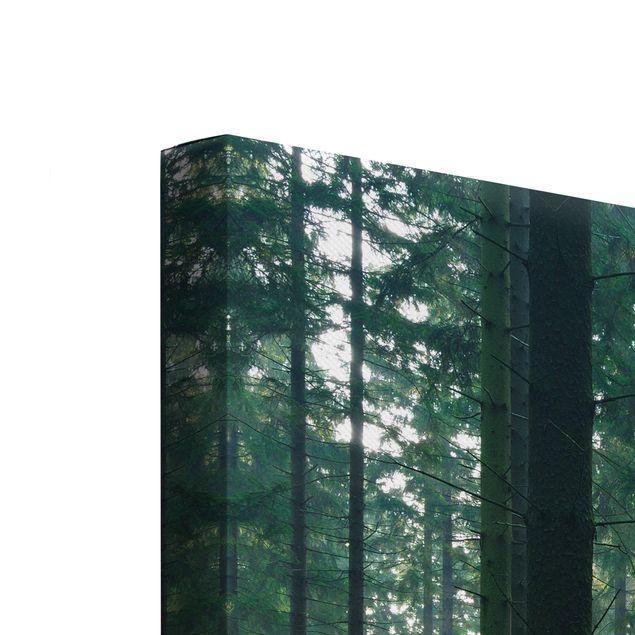 Produktfoto Leinwandbild 2-teilig - Enlightened Forest - Hoch 4:3, Keilrahmen Rückseite, Artikelnummer 212922-FB