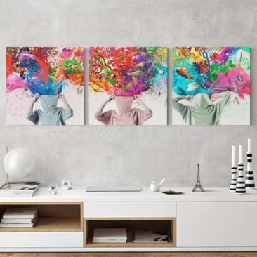 Product picture Canvas Art Three-part - Brain Explosions...