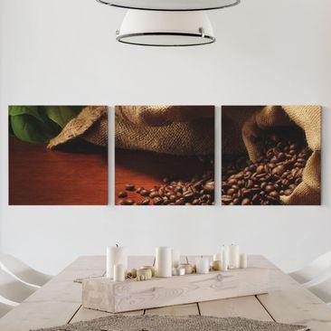 Immagine del prodotto Stampa su tela 3 parti - Dulcet Coffee - Quadrato 1:1