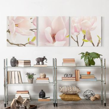 Product picture Canvas Art Three-part - Magnolia Trio 1...