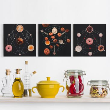 Product picture Canvas Art Three-part - Alchemien The...