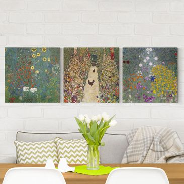 Product picture Canvas Art Three-part - Gustav Klimt -...