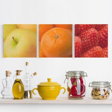 Immagine del prodotto Stampa su tela 3 parti - Fresh Fruit - Quadrato 1:1