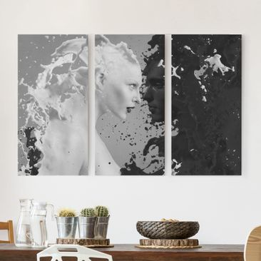 Product picture Canvas Art Three-part - Milk & Coffee II...