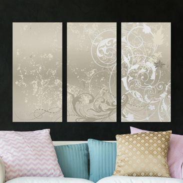 Immagine del prodotto Stampa su tela 3 parti - Nacre Ornament Design - Verticale 2:1