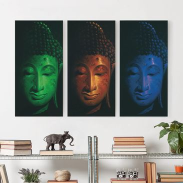 Produktfoto Leinwandbild 3-teilig - Triple Buddha -...
