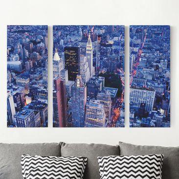 Produktfoto Leinwandbild 3-teilig - Big Apple - Triptychon, vergrößerte Ansicht in Wohnambiente, Artikelnummer 213255-XWA