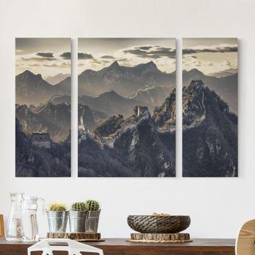 Produktfoto Leinwandbild 3-teilig - Die große chinesische Mauer - Triptychon, vergrößerte Ansicht in Wohnambiente, Artikelnummer 213278-XWA