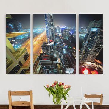 Produktfoto Leinwandbild 3-teilig - Dubai Lights -...
