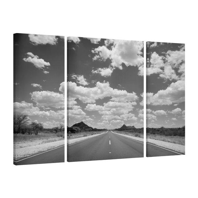 Produktfoto Leinwandbild 3-teilig - Route 66 II - Triptychon, Spiegelkantendruck links, Artikelnummer 213372-FL