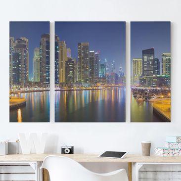 Produktfoto Leinwandbild 3-teilig - Dubai Nacht...