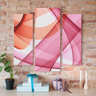 Produktfoto Leinwandbild 3-teilig - Miracle Structure - Galerie Triptychon, vergrößerte Ansicht in Wohnambiente, Artikelnummer 213508-XWA