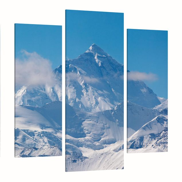 Produktfoto Leinwandbild 3-teilig - Mount Everest - Galerie Triptychon, Spiegelkantendruck links, Artikelnummer 213511-FL