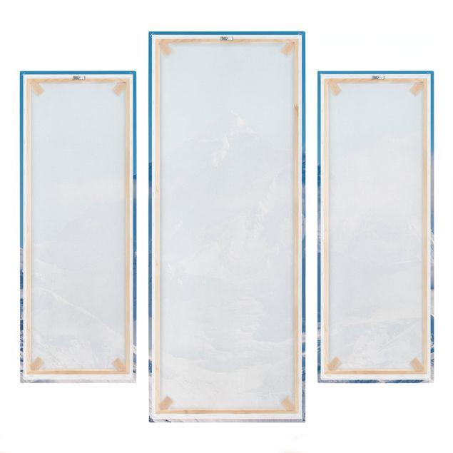 Produktfoto Leinwandbild 3-teilig - Mount Everest - Galerie Triptychon, Spiegelkantendruck rechts, Artikelnummer 213511-FR
