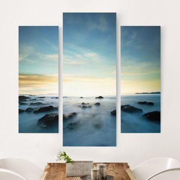 Immagine del prodotto Stampa su tela 3 parti - Sunset Over The Ocean - Trittico da galleria