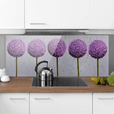 Product picture Bilderwelten Glass Splashback - Allium...