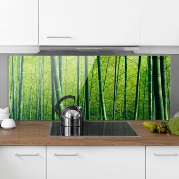 Product picture Bilderwelten Glass Splashback - Bamboo...