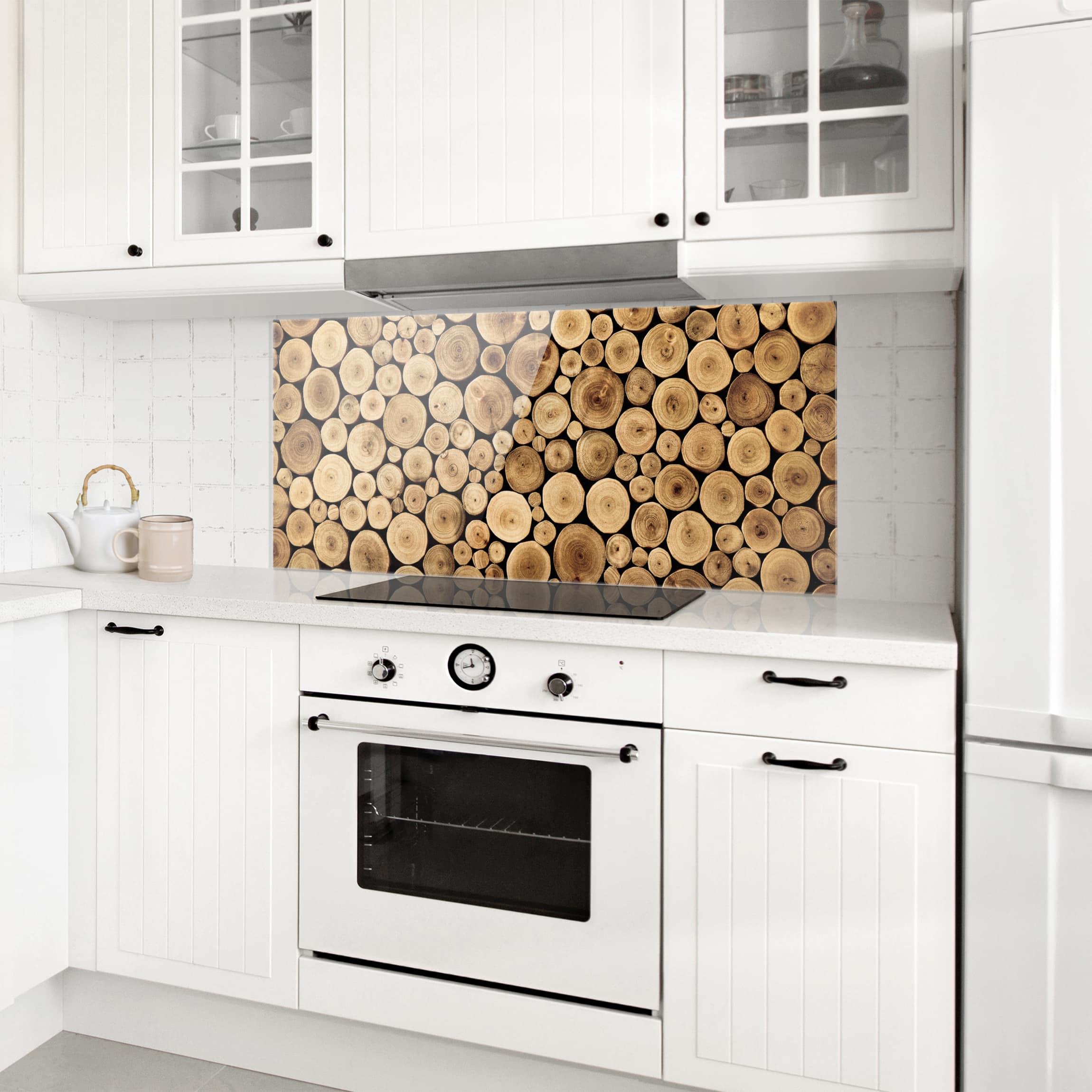 spritzschutz glas homey firewood panorama quer. Black Bedroom Furniture Sets. Home Design Ideas