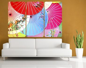 Product picture Wall Mural Chinese Parasols Triptychon
