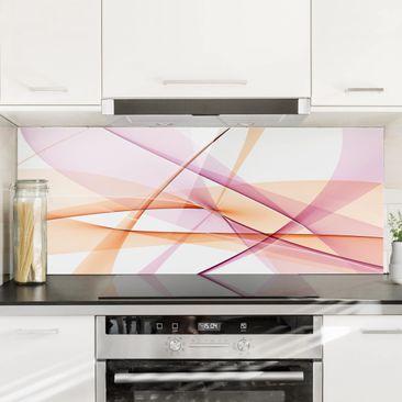 Produktfoto Spritzschutz Glas - Mystical Waves - Panorama Quer