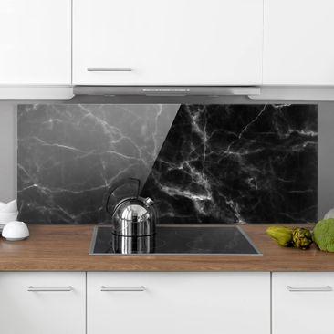 Immagine del prodotto Paraschizzi in vetro - Nero Carrara - Panoramico